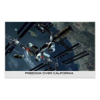 Freedom over California Posters