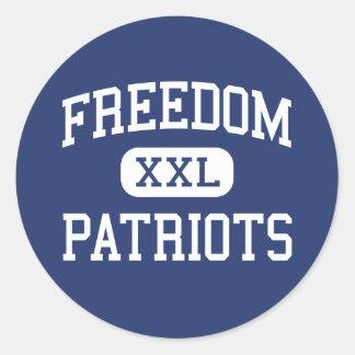 Freedom - Patriots - High - Morganton Classic Round Sticker