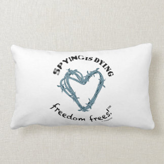 """Freedom pillow(rect.21x13""""cotton;SpyDieFree/Barbw) Pillows"""
