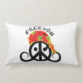 "Freedom pillow (rect/cotton 21x13"" pirate bandana)"