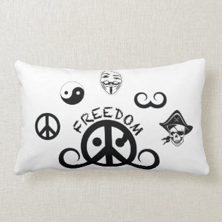 "Freedom pillow (rect./poly/21x13""/origin motif)"