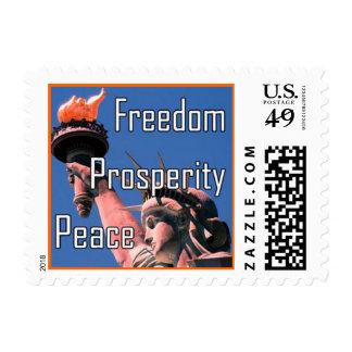 Freedom, Prosperity, Peace Postage
