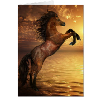 Freedom Rearing Wild Horse Card