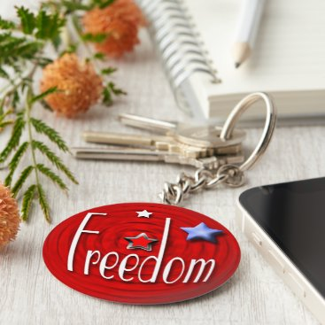 USA Themed Freedom red keychain