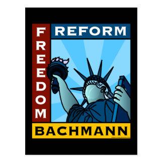 Freedom Reform Liberty Bachmann Postcard