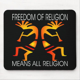 Freedom Relgion All Black Mouse Pad