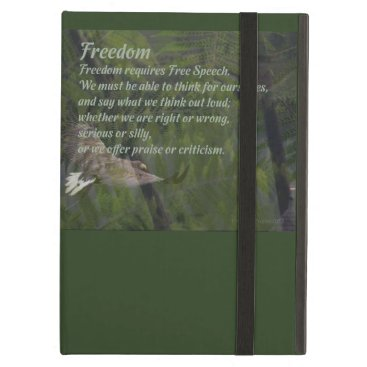 Freedom Requires Free Speech iPad Air Case Cover