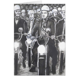 Freedom Riders, Charcoal Art Products Card