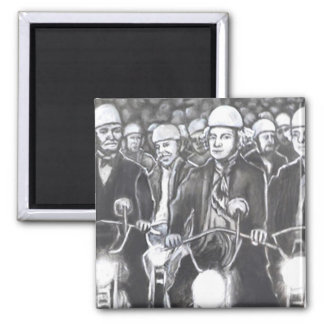 Freedom Riders, Charcoal Art Products Magnet