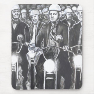 Freedom Riders, Charcoal Art Products Mouse Pad