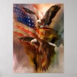 Freedom Ridge-Eagle Art Poster/Print