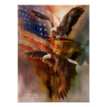 Freedom Ridge-Eagle Art Poster/Print Poster