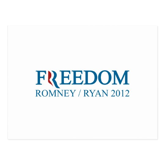 Freedom Romney / Ryan 2012 Postcard