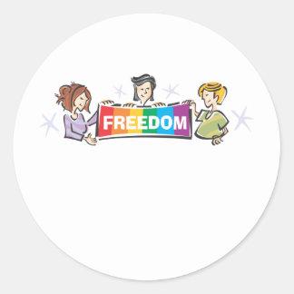 Freedom Round Sticker