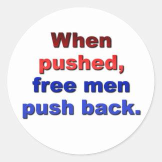 Freedom Round Stickers