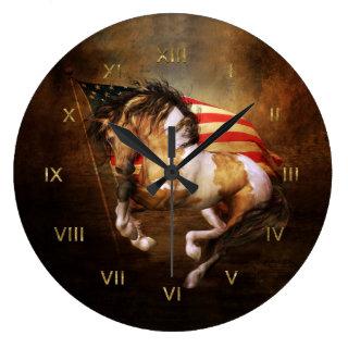 Freedom Run Wild Horse Wall Clock