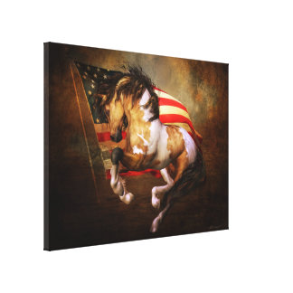 Freedom Run Wrapped Canvas Print
