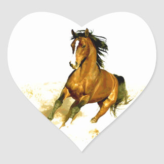 Freedom - Running Horse Heart Sticker