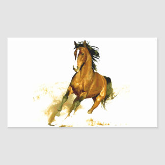 Freedom - Running Horse Rectangular Sticker