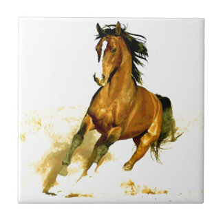 Freedom - Running Horse Small Square Tile