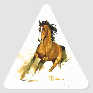 Freedom - Running Horse Triangle Sticker