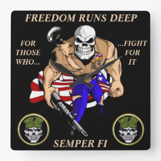 FREEDOM RUNS DEEP Wall Clock
