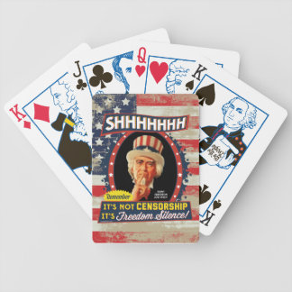 Freedom Silence Bicycle Playing Cards