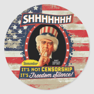 Freedom Silence Classic Round Sticker