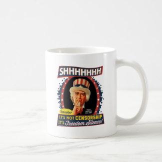 Freedom Silence Classic White Coffee Mug