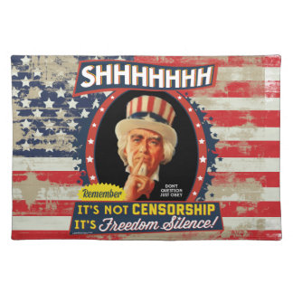 Freedom Silence Cloth Placemat