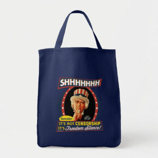 Freedom Silence Grocery Tote Bag