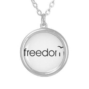 Beach Themed Freedom Silver Plated Necklace