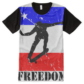 Freedom Skateboard ALL-OVER-T's All-Over Print Shirt