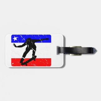 Freedom Skateboarding flair Tag For Luggage