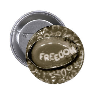 freedom soup pinback buttons