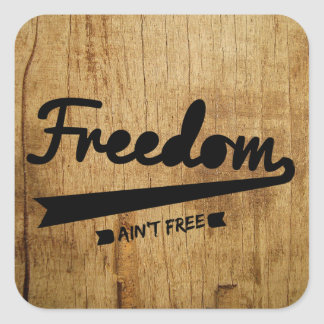 freedom square sticker