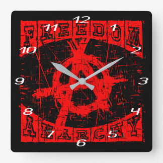 freedom square wall clock