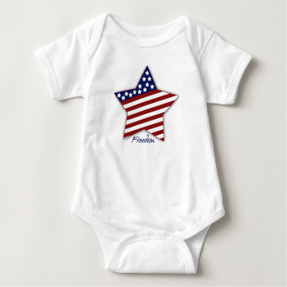 Freedom Star Baby Bodysuit