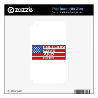 FREEDOM STARS iPod TOUCH 4G SKIN