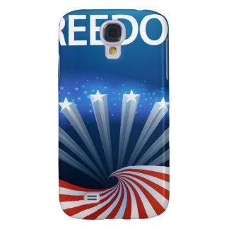 Freedom Stars Stripes and Swirls Galaxy S4 Cases