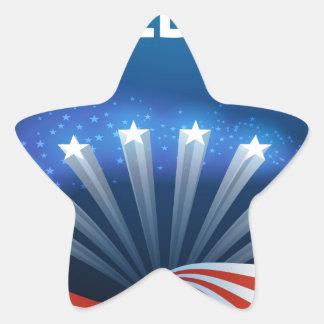 Freedom Stars Stripes and Swirls Star Sticker