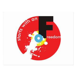 Freedom Starts postcard