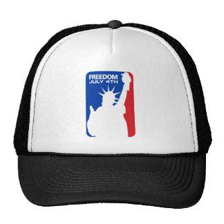 Freedom statue of liberty trucker hat