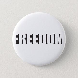 Freedom stenccil design button