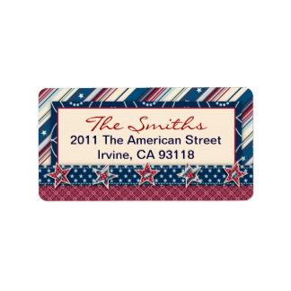 Freedom Stripe Address Label