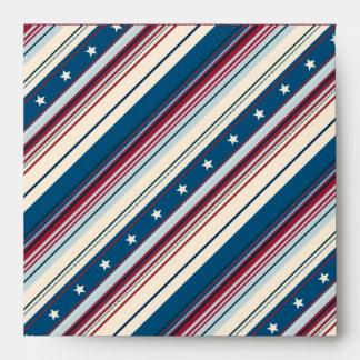 Freedom Stripe Envelope Square