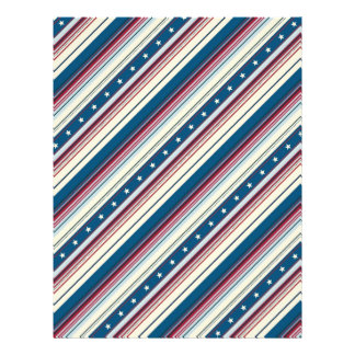 Freedom Stripe Scrapbook Paper Dual-sided 2