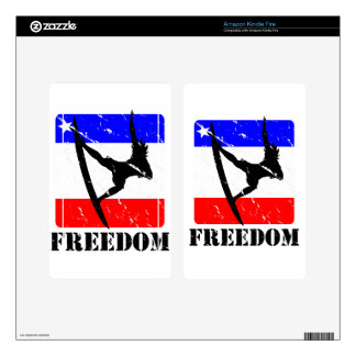 Freedom Surfing ELECTRONICS Decal For Kindle Fire
