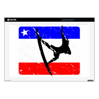"""Freedom Surfing ELECTRONICS Decals For 17"""" Laptops"""