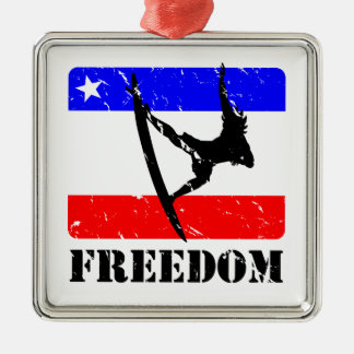 Freedom Surfing FLAIR Metal Ornament